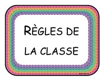 Règles de la classe