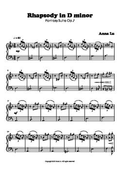 Rhapsody in D minor