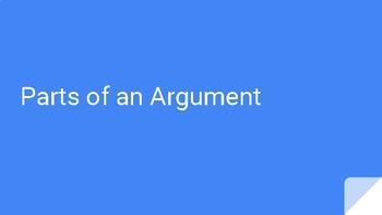 Rhetoric Introduction: Parts of an Argument
