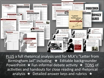 "Rhetoric Mega-Bundle: Appeals, Devices & ""Letter from Birmingham Jail"" Unit"