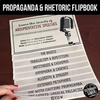 Rhetoric, Propaganda, & Fallacies Flipbook: Mini-Lessons to Analyze Speeches