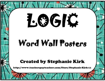Rhetoric, Reasoning, Logic: Intro to Argument  - Word Wall Poster Printables