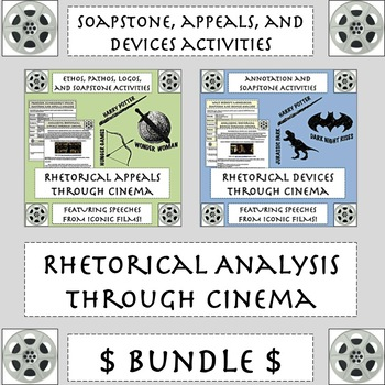 Rhetoric Through Cinema Bundle: Engaging SOAPSTone, Appeals, & Devices Analysis