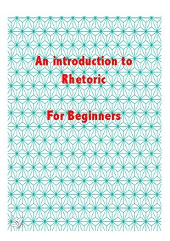 Rhetoric, an Introduction
