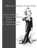Rhetorical Analysis Activity Pack