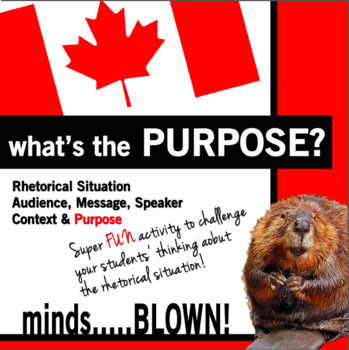 Rhetorical Analysis Activity, Rhetorical Situation - Purpose vs. Message