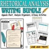 Rhetorical Analysis BUNDLE Thesis Essay Outline Rhetorical Appeals Chart