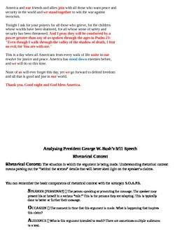 Rhetorical Analysis Basics: President Bush's Speech on 9/11