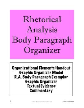 Rhetorical Analysis Body Paragraph Organizer; AP Language & Composition; AP Lang