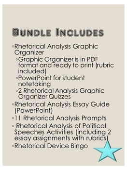 Rhetorical Analysis Bundle