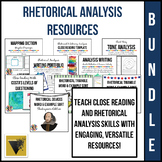 Rhetorical Analysis Bundle: Organizers, Activities, and Assessments