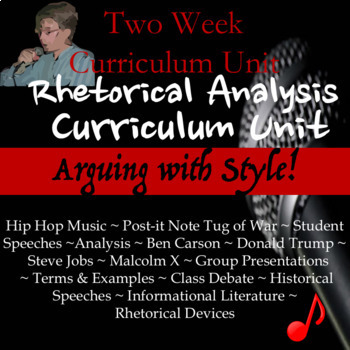 Rhetorical Analysis Curriculum Unit