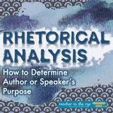 Rhetorical Analysis--Determining an Author's or Speaker's Purpose {CCSS}
