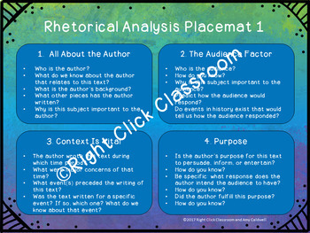 Rhetorical Analysis Discussion Placemat