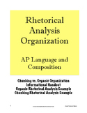 Rhetorical Analysis Essay Organization; AP Lang; (AP Language & Composition)