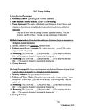 SAT Rhetorical Analysis Essay Outline 3rd Edition