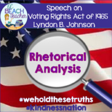 Rhetorical Analysis Graphic Organizer for Speeches