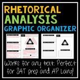 Rhetorical Analysis Graphic Organizer for Any Text (SAT Wr