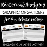 Rhetorical Analysis Graphic Organizer for Engaging Debate Videos