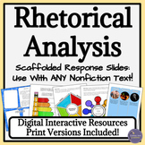 Rhetorical Analysis Graphic Organizers for Any Nonfiction Text
