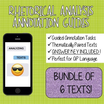 Rhetorical Analysis Guided Reading BUNDLE of Scaffolded Texts