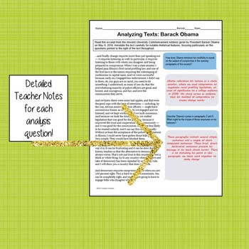 Rhetorical Analysis Guided Reading: Benjamin Franklin and Barack Obama