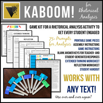 Rhetorical Analysis Kaboom A Critical Thinking Game For Any Text