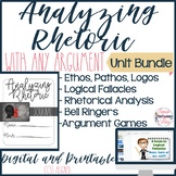 Rhetorical Analysis BUNDLE! Teach Students to Analyze Rhetoric in any Argument!