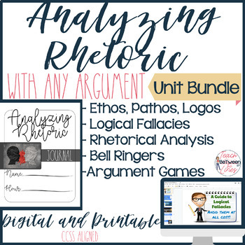 Rhetorical Analysis BUNDLE! Teach Students to Identify Claims and Evidence!
