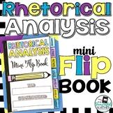 Rhetorical Analysis Mini Flip Book (a sticky note book for rhetoric)