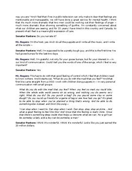 Rhetorical Analysis Mr Rogers Speech To Congress Ethos Logos Pathos