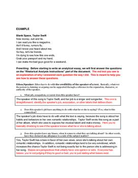 Rhetorical Analysis Outline Assessment