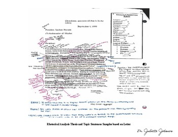 Rhetorical Analysis Paragraph Construction MiniLesson