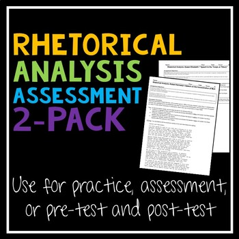 Rhetorical Analysis Pretest and Post-Test Assessment for AP Language SLO