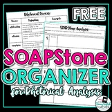 Rhetorical Analysis SOAPStone Organizer and Rhetorical Dev