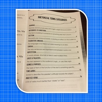 Rhetorical Analysis Terms or Devices Glossary Handbook