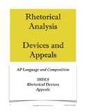 Rhetorical Analysis Tips Handout; AP Lang and Comp; AP Lan
