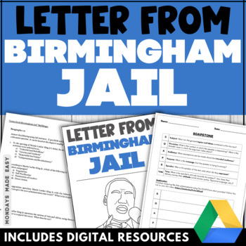 "Rhetorical Analysis BUNDLE | Martin Luther King's ""Letter from Birmingham Jail"""