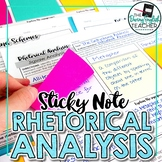 Rhetorical Analysis Unit with Sticky Notes: Activities, Wr