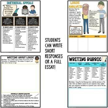 Rhetorical Analysis Example Writing Bundle: Essays, Short Responses, Activities