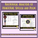 Rhetorical Analysis of Inaugural Speech & Poem (Remote or In-Person) High School