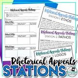Rhetorical Appeals Analysis Stations: Ethos, Pathos, Logos