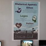 Rhetorical Appeals- Ethos, Logos and Pathos poster
