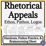 Rhetorical Appeals Handouts and Worksheets for Ethos, Pathos, and Logos