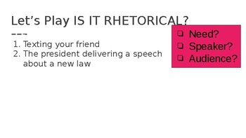Rhetorical Appeals Presentation and Practice