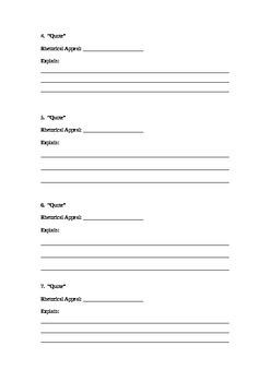 Rhetorical Appeals Worksheet