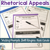 Rhetorical Appeals Writing Prompts, Bell Ringers, Task Cards