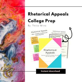 Rhetorical Appeals for High School English or ELD (ESL) Using Sentence Templates