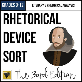 Rhetorical Device Word and Example Sort: Shakespeare Edition