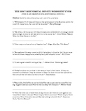 Rhetorical Device Worksheet